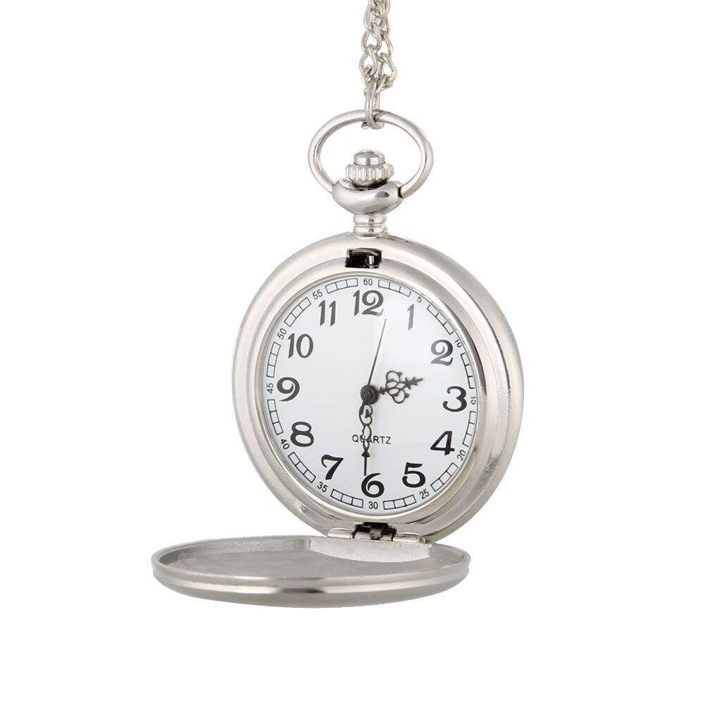 2017 Silver Polish Quartz Pocket Watch Fob Chain Pendant Necklace Watches Gifts for Men Women LL@17 otoky montre pocket watch women vintage retro quartz watch men fashion chain necklace pendant fob watches reloj 20 gift 1pc
