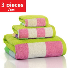 3 suits, Scottish tartan style, adult men and women increased thickening 100% cotton, bath towel + towel + free shipping