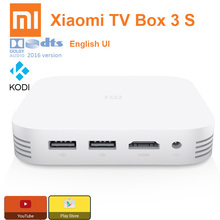 Original xiaomi tv box 3 3 s pro smart 4 k hd mitv mibox 3 S 2G + 8G Dual USB Apoyo Miracast Airplay DLNA Color Blanco Android 5.1