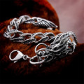 Magic Ikery Titanium stainless steel Vintage Punk Dragon Snake cuff Chain & Link Bracelets Fashion Jewelry for men Y2413