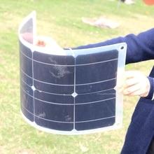 BUHESHUI полугибкий монокристаллический 20 Вт 4 в солнечная панель солнечная батарея DIY Солнечное зарядное устройство