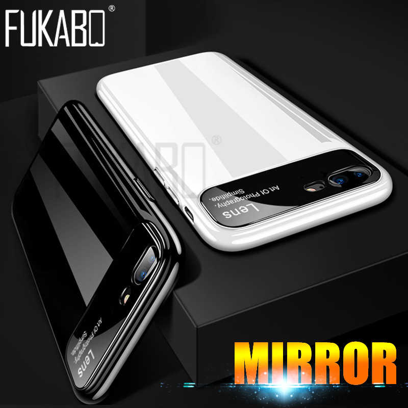 luxury Mirror PC Protective Phone Case For iPhone 7 6 Plus Hard Back Shockproof Cover For iPhone 6 6s 7 7 Plus Full Cover Case