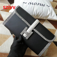 100% Genuine cow Leather and lizard leather Luxury clutch wallets Designer Crossbody Bags For Women Famous Brand Runway 080402