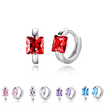 Square Crystal Earrings Small Circle Red Blue Pink Color Stone Earrings For Women Females Engagement Daily.jpg 350x350 - Square Crystal Earrings Small Circle Red Blue Pink Color Stone Earrings For Women Females Engagement Daily Jewelry Accessory