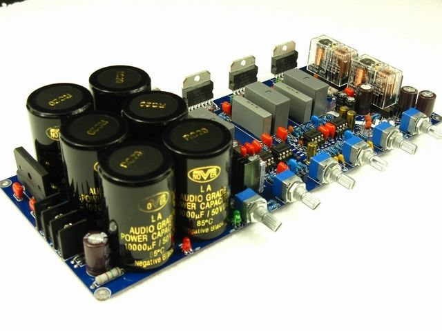 ФОТО Assembled TDA7293 2.1 Power amplifier board with speaker protection 80W*2+160W