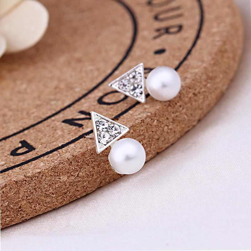 Orecchini di perle a forma di cuore di cristallo carino da donna per le donne indossano gioielli di moda accessori da sposa pendientes Mujer piccoli orecchini