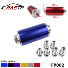 купить RASTP-High Quality Racing Performance Inline Fuel Filter with 100 Micron Element AN6/AN8/AN10/ With 3 Fittings RS-FP002 по цене 612.23 рублей