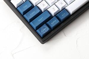 Image 5 - Dsa pbt haut imprimé légendes blanc bleu Keycaps gravé au Laser gh60 poker2 xd64 87 104 xd75 xd96 xd84 cosair k70 razer blackveuve
