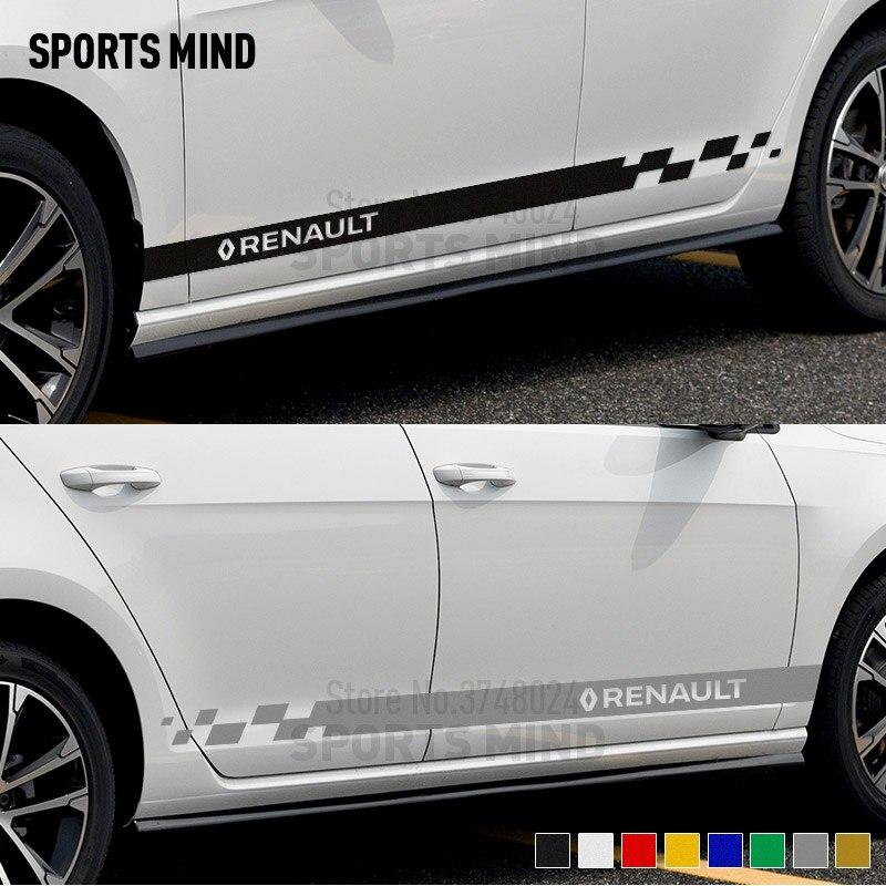 1 par Personalização Estilo Do Carro Etiqueta Do Carro Decalque Para Captur Renault Duster Megane Clio Sandero Stepway Kadjar Acessórios Do Carro