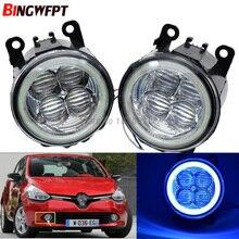 2x Super Bright Angel Eyes White Blue Led Fog light For Renault Clio IV 2012 2013 2014 2015 2016