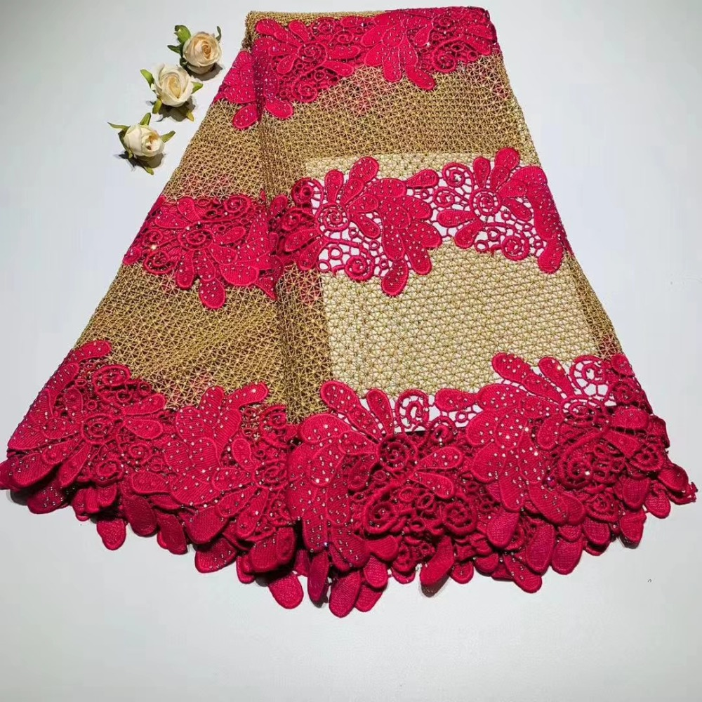 wonderful gold thread Design double colour Water Soluble lace ,Good quality And Free Shipping African Lace fabric DFDE161wonderful gold thread Design double colour Water Soluble lace ,Good quality And Free Shipping African Lace fabric DFDE161
