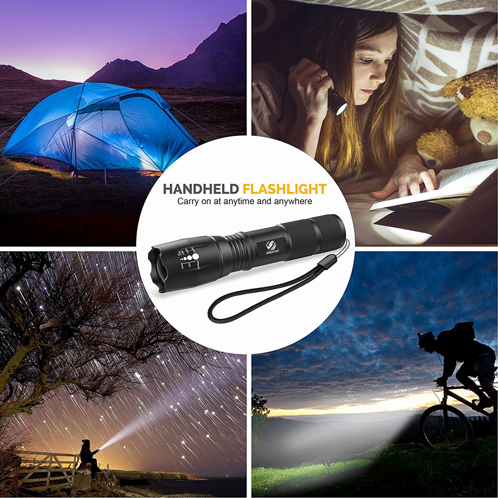 Купить с кэшбэком Super bright LED Flashlight With COB Side Light 4 Lighting modes Waterproof LED Torch For camping, adventure,Night Riding