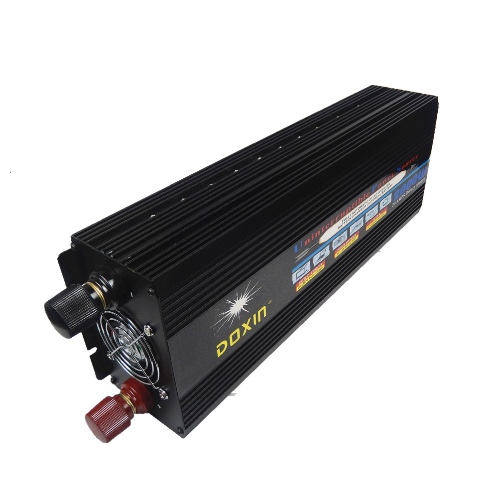 цена на UPS 2000W 24V dc input to 220V ac output modified wave Power Inverter With UPS Battery Charging function