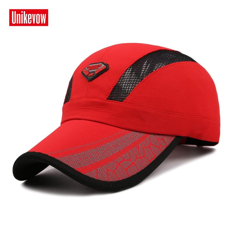 Topi bisbol musim panas cepat kering dengan kain bersinar Hat untuk pria wanita topi jatuh kasual