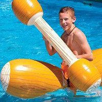 HOT Water Entertainment Game Toy Inflatable Float Raft Chair Stick Swimming Games Kit HV99