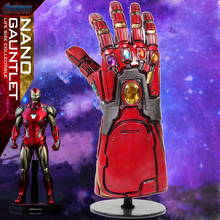 лучшая цена Iron Man Gauntlet Thanos Infinity Gauntlet Avengers Endgame Iron Man Nano Gauntlet Armor Tony Stark Cosplay Costume Prop Hot Toy