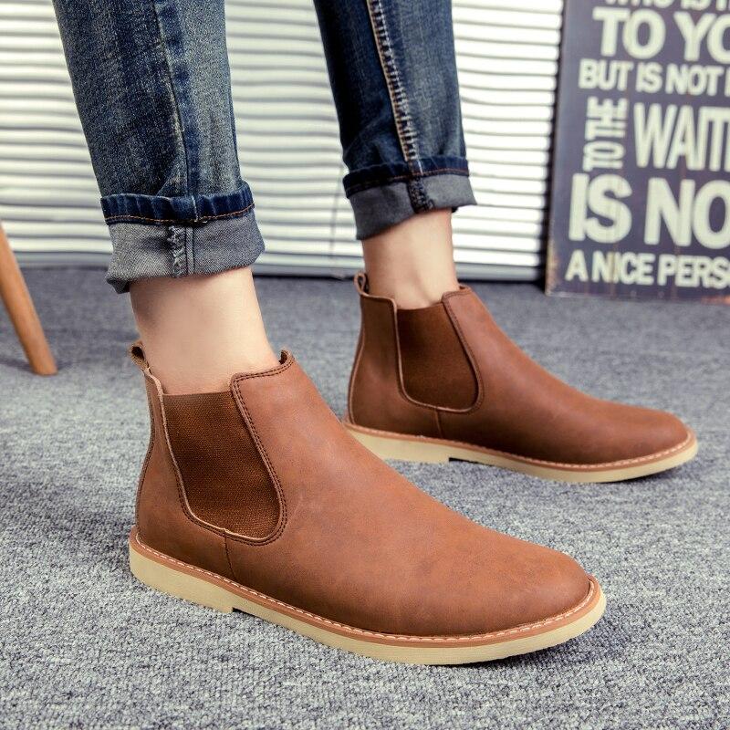 D'origine Chelsea Chaussures Pour Hommes Basse aide Tactique Hommes Bottes Automne En Plein Air Marques Bottes Noir Brun Garçon Martre Chaussures Cheville bottes