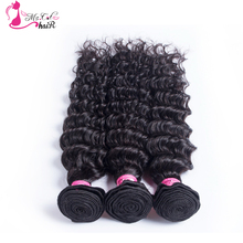 Indian Hair Deep Wave 1 Piece Ms Cat Hair Products Natural Black No Shedding And Free Tangle Human Hair Bundles