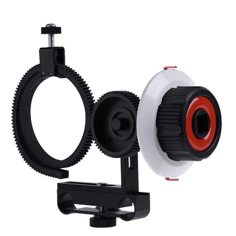 Alloyseed Cámara seguir Focus Fo con correa de anillo de engranaje ajustable para Canon Nikon cámaras Sony DSLR studio fotografía Accesorios
