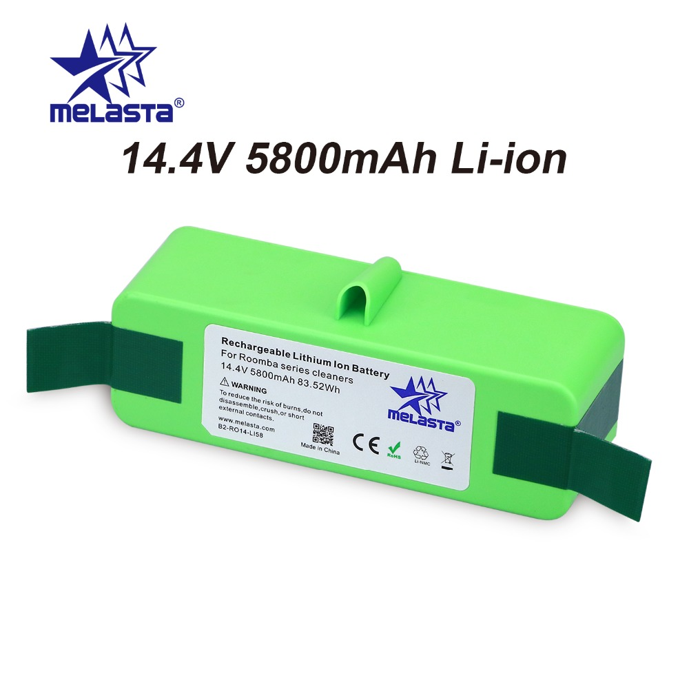 5.8Ah 14.8V Li-ion Battery with Brand Cells for iRobot Roomba 500 600 700 800 980Series 510 530 550 560 650 770 780 870 880 R3 new genuine 14 4v 5200mah 74wh 8 cells a42 g55 notebook li ion battery pack for asus g55 g55v g55vm g55vw laptop