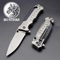 Tactical 56HRC High Hardness 3CR13 Blade G10+ Steel Handle Folding Knife Camping Hunting Knives Outdoor EDC Tool