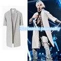 Высокая мода мужская Южная Корея Хип-хоп ткань рукава ДЖАСТИН БИБЕР ПАЛЬТО куртки и пальто gd kanye west clothing S-XL