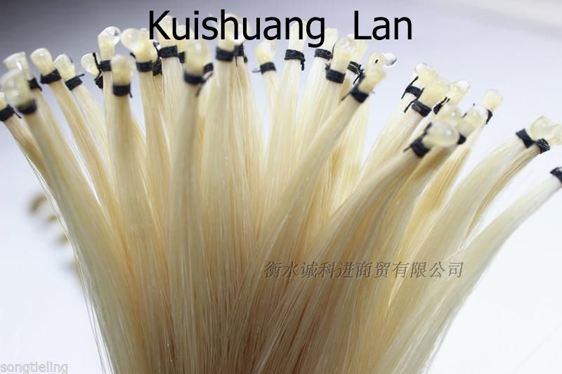 High Quality 12 Hanks Natural White Mongolia Horsetail Violin &viola&cello Bow Hair Free Shipping