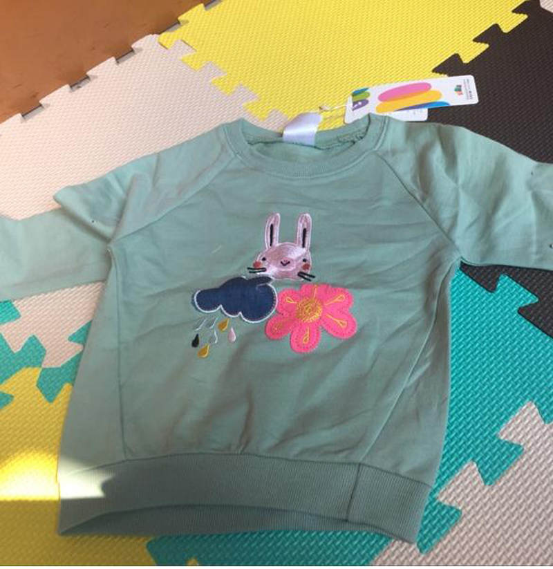 Spring Autumn Rain&Rabbit Kids Sweat T Shirts For Girls Tops Pullovers Long Sleeves Kids Clothes 2018 T1/7460DCE