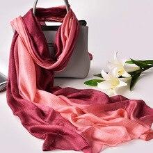 2019 Luxury Brand Real Silk Women Scarf fashion Soft silk kerchief Female Shawl Foulard Beach cover-ups wraps Bandana Hijab
