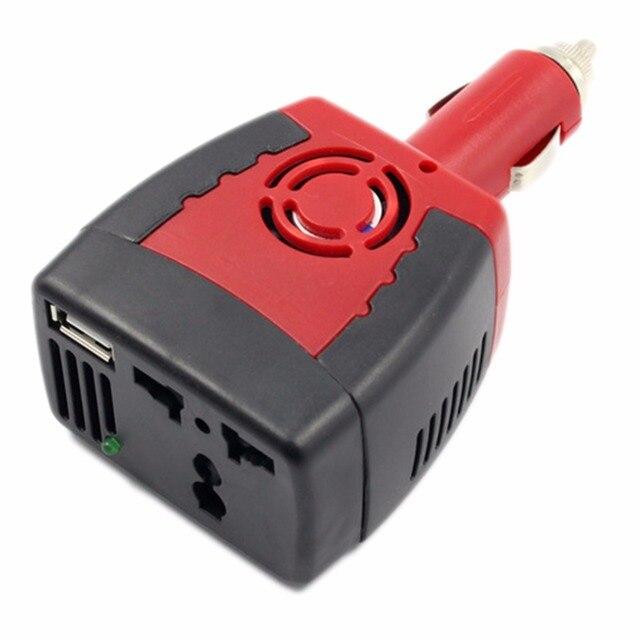 150w Inverter Car Usb Charger Adapter 12v Dc To 110v Cigarette Lighter Plug Converter Universal Socket Phone