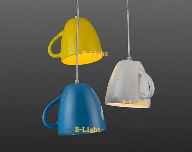 Online shop in resina moderna teiera lampade a sospensione tazza