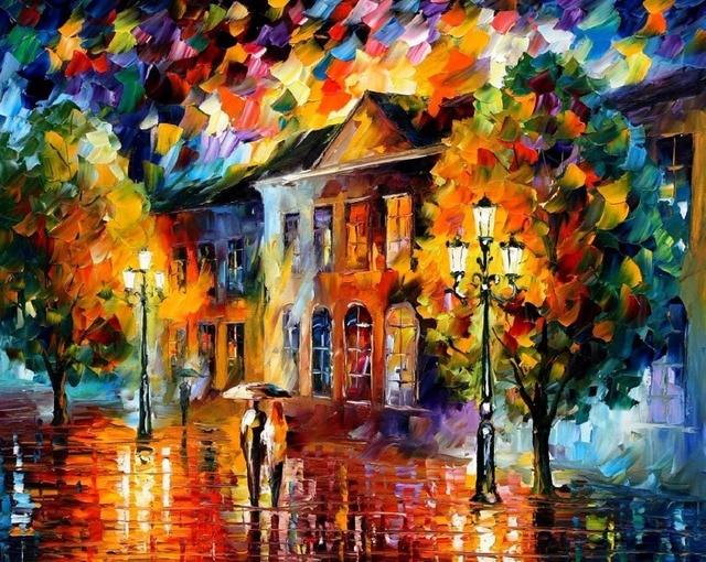 Quadro autunno moderni astratti quadri