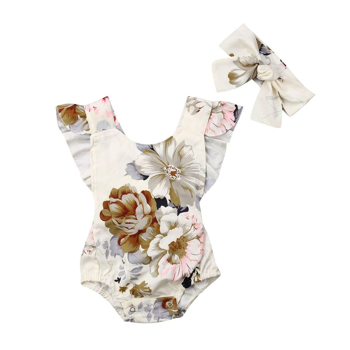 Семейный комплект одежды для новорожденных, комбинезон с оборками для маленьких девочек, комбинезон, повязка на голову