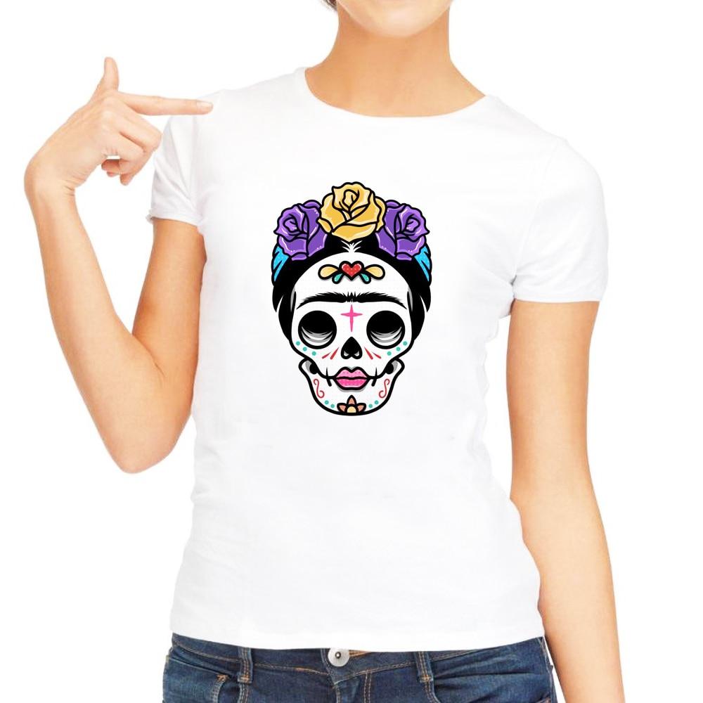 2019 New Oil Painting T-Shirt  Summer Shirt Women Feminist T shirt Mexican Folk Artist Tee plus size  Tops for Girl Laidies
