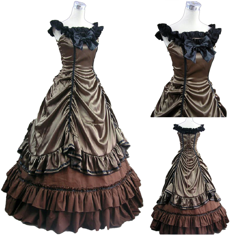 Halloween Costumes for Women Adult Southern Victorian Dress Ball Gown Gothic Lolita Dress Plus Size Customized plus size butterfly print ball gown dress
