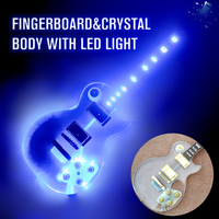2017 NEW Acrylic LP Electric Guitar with Chrome Hardware,Fingerboard&crystal Body with LED Light, 22F Acrylic guitarra,Wholesale