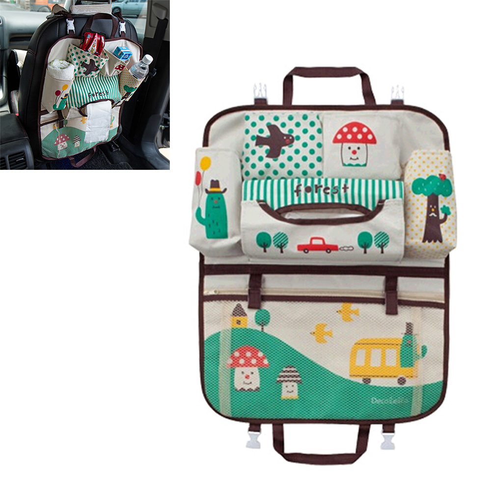 Mummy Bag Car Back Seat Organizer Stowing Tidying Storage Hanging Bag Car-styling for kids Carriage Baby Diaper Universal