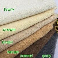 Sherpa Fleece Lamb Fur Fabric Berber Fleece Plush Cloth Sweater Liner Lining Cloth Sold By The