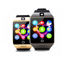 2017 Q18s Q18 Bluetooth Curved Surface Screen Smart Watch Smartwatch with NFC Camera for Android IOS