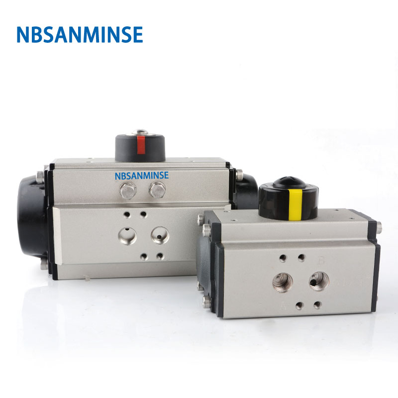 NBSANMINSE ST AT 125 160 D Air Torque Actuator Pneumatic Actuator Single Double Acting For Valve and Cylinder in Pneumatic Parts from Home Improvement