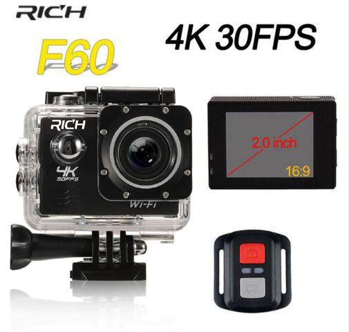 RICHE action Caméra 30fps Vidéo Sport Caméra wifi 1080 P Étanche DV sous-marine caméras sport action cam 4 k