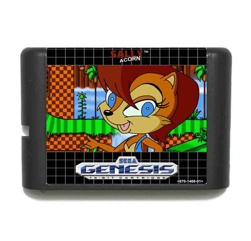Sally Acorn In Sonic The Hedgehog 1 16 bit MD Game Card With Retail Box For Sega Megadrive/Genesis