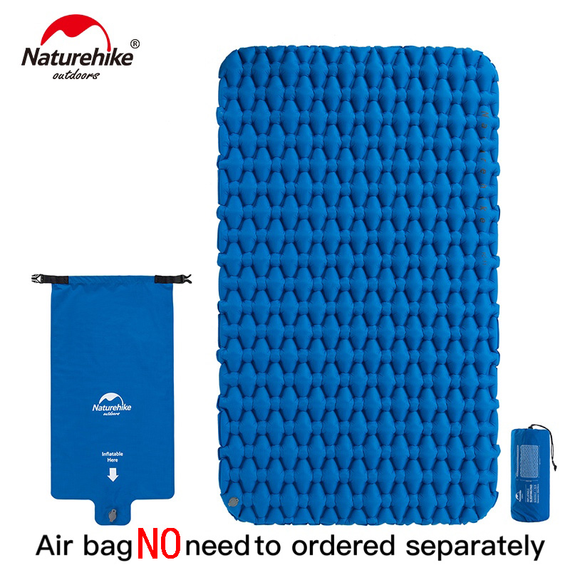 Naturehike Lightweight Moisture proof Air Mattress Nylon TPU Sleeping Pad Inflatable Mattress Camping Mat For 2Person