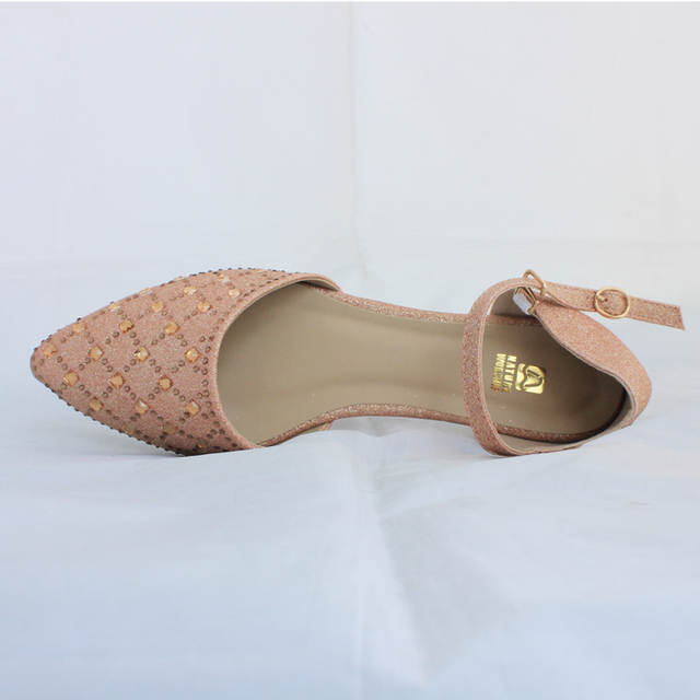 Mary janes womens shoes fashion crystal women sandals pointed toe crystal  flat heel sandals rhinestone women 7227c1e750e5
