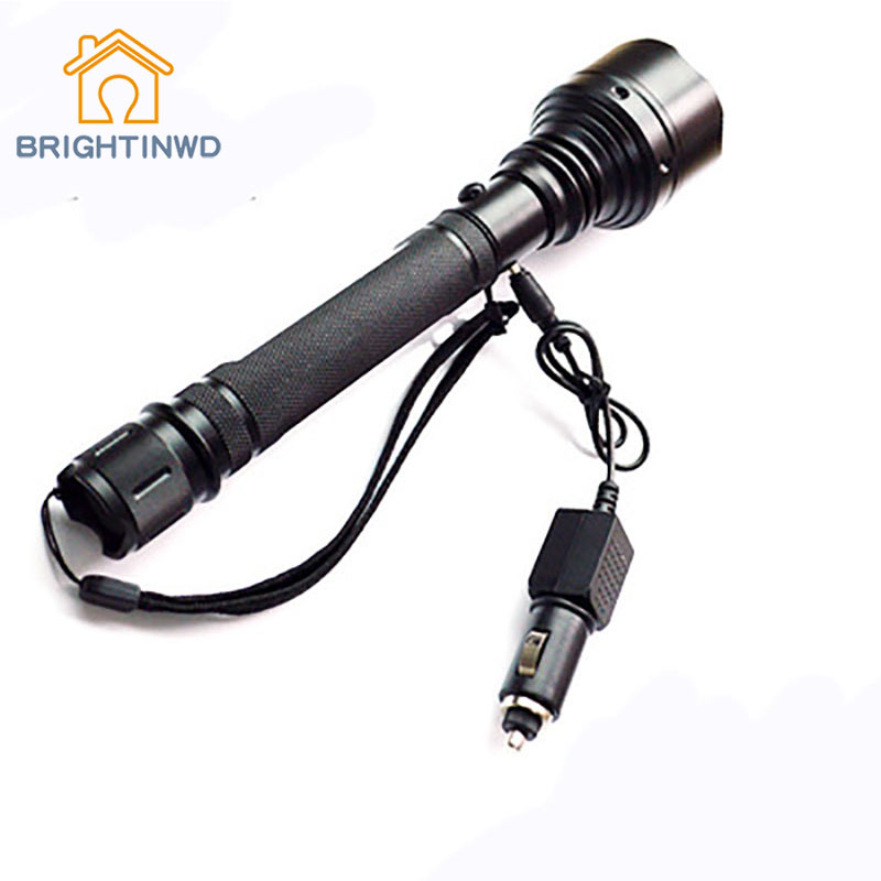 BRIGHTINWD Led Charging Flashlight Outdoor Riding Lighting Hunting and Self-defense Supplies LED Car Charger multi function flashlight usb charging mini portable self defense led flashlight with cigarette lighter home car emergency tool