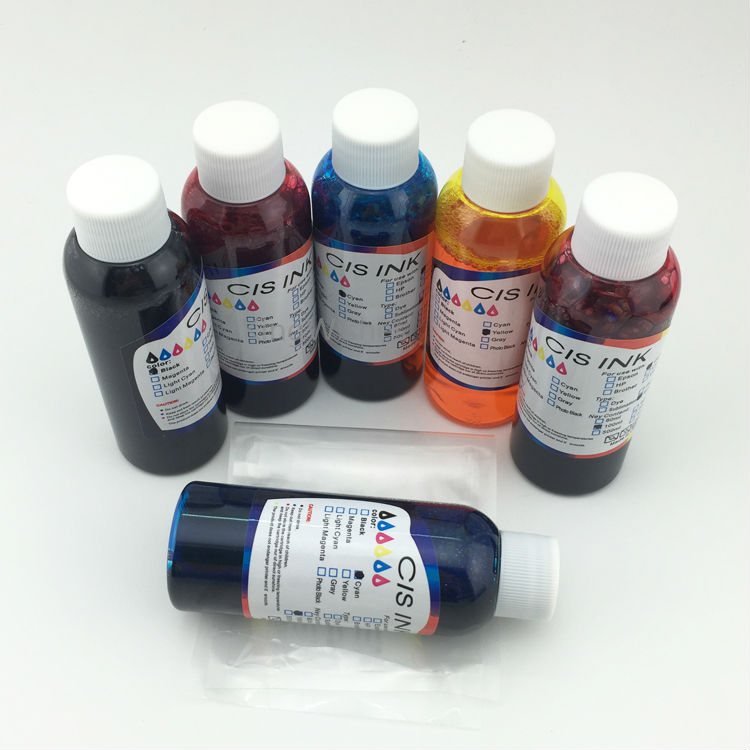 Free Shipping 6 Color Inkjet Printer T2771 T2772 T2773 T2774 T2775 T2776 Edible Ink For Epson XP-850 free shipping 9 litre a set ciss refill submation ink for epson a3 inkjet r3000 printer ink