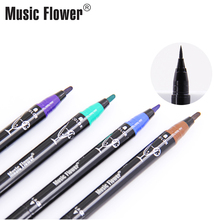 Music Flower Multiple Scope Liquid Eyeliner Pen Super Black long-wearing Smudge-proof Water-proof Eyeliner Gel Women Makeup Pen недорого