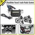 Sistema de Rádio de Áudio de Som De moto Guidão 12 V Full-band FM Estéreo 2 alto-falantes de Moto ATV Com 3.5mm Jack AUX para Ligar Dispositivo MP3