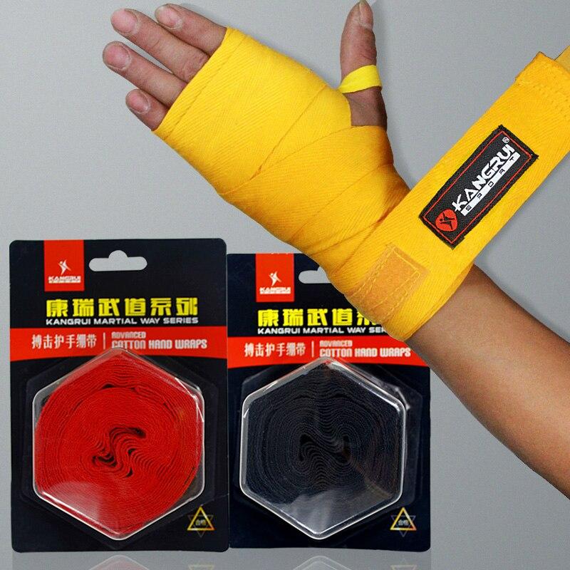 Высокое качество профессионального кикбоксингу обертывания 2,5 м прочный хлопок 100% ММА протектор руки Муай Тай обертывание