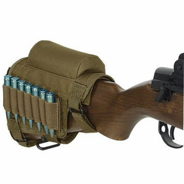 Hunting Gun Accessories Adjustable Rifle Shotgun Tactical Buttstock Cheek Rest Shooting Pad Ammo Case Cartridges Holder Pouch To Have A Long Historical Standing